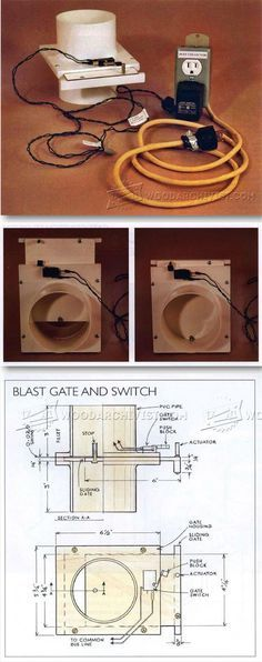 Dust Collection Blast Gate Controls - Dust Collection Tips, Jigs and Fixtures   WoodArchivist.com