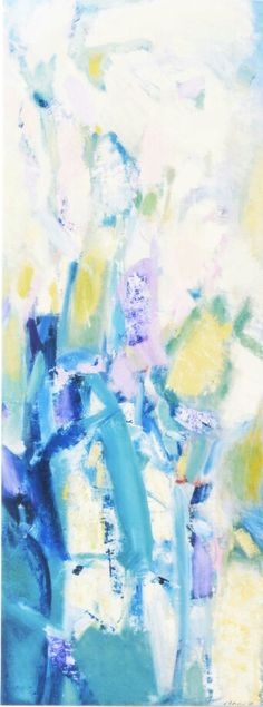 Alberto Boschi - Le stagioni vengono e vanno - Primavera - olio su tela cm 120 × 45 - 2008