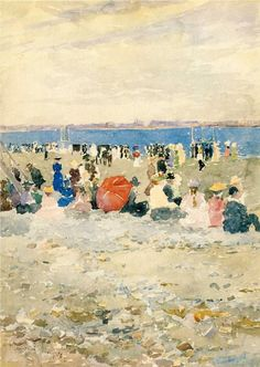 Maurice Prendergast was an American Post-Impressionist artist who worked in oil, watercolor, and monotype.