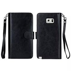 97aa006d268e9 Highly Quality 9 Card Holder PU Leather Wallet Case for Samsung Galaxy Note  5 Flip Cover Phone Pocket Car Phone Holder Cases
