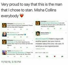 While I'm ticked at the mom, I'm happy for the girl and just fangirling even harder over the wonderful Misha