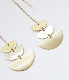 SALE Moon Phase Gold Earrings