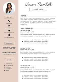 Resume Templates Modern Resume Template CV Template for MS Word Template Cv, Creative Cv Template, Modern Resume Template, Resume Templates, Cover Letter For Resume, Cover Letter Template, Modelo Curriculum, Word Cv, Resume Cv