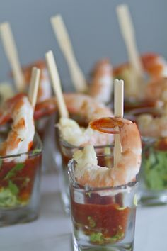 Easy Make Ahead Christmas Appetizers Recipes – Prawn Cocktails Shrimp Appetizers, Appetizers For Party, Appetizer Recipes, Tapas Party, Prawn Recipes, Healthy Appetizers, Antipasto, Prawn Cocktail, Cocktail Sauce