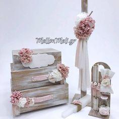Set βάπτισης Travel suitcases Little Star, Decoration, Christening, Christmas Crafts, Decorative Boxes, Flower Girl Dresses, Wedding Dresses, Birthday, Garden