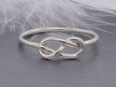 Promise ring, Infinity knot ring, figure 8 ring, sterling silver ring, friendship ring, purity ring - pinned by pin4etsy.com