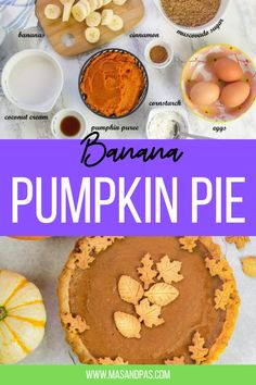 This easy banana pumpkin pie is the ultimate kid friendly fall pumpkin dessert. It takes a simple twist on traditional homemade pumpkin pie by adding the natural sweetness of bananas, just a bit of spice from cinnamon, and uses coconut cream for a dairy free, rich texture that your family will love. #pumpkinpie #easypumpkinrecipes #falldessertrecipes #pumpkindesserts #thanksgivingdesserts Fall Dessert Recipes, Holiday Desserts, Snack Recipes, Baking Recipes For Kids, Baking With Kids, Homemade Pumpkin Pie, Pumpkin Pie Recipes, Night Food, Bonfire Night