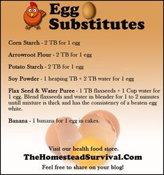 for some reason every time I run out of eggs, that is the time I want to bake..thank goodness for these substitutes!!