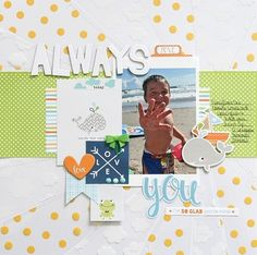 Creating for Bella Blvd CHA using the new Cute Baby Boy collection and the fun Clear Cuts http://antenucci.blogspot.com
