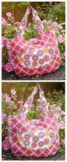 """The """"Well Rounded' Tote bag - free sewing pattern. All the features you need without being complicated to sew. Great instructions."""