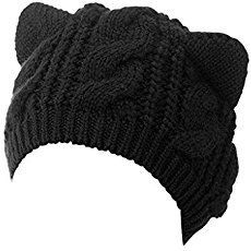 My Black Cat Slouch Hat has chunky ribbing and cute cat ears. The simple and free Crochet Cat Hat pattern works up quickly and makes a great gift. Knit Beanie Hat, Crochet Beanie, Crochet Hats, Slouch Hats, Knit Hats, Free Crochet, Ravelry Crochet, Crochet Birds, Crochet Food