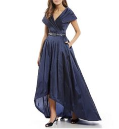Shop for Adrianna Papell Portrait Collar Taffeta Hi-Low Gown at Dillard's. Visit Dillard's to find clothing, accessories, shoes, cosmetics & more. The Style of Your Life. Funky Dresses, Hi Low Dresses, Formal Dresses For Women, Long Dresses, Mother Of The Bride Suits, Mother Of Groom Dresses, Blue Wedding Dresses, Bride Dresses, Mom Dress