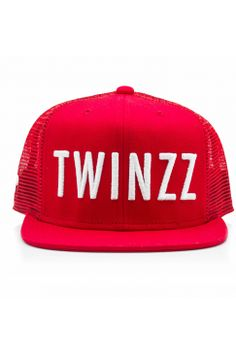 Twinzz - Trucker Snapback - Red/White | Have you seen the latest snapbacks from Twinzz now available @ Urban Celebrity!? The only question is - which to choose? It's a toughie...