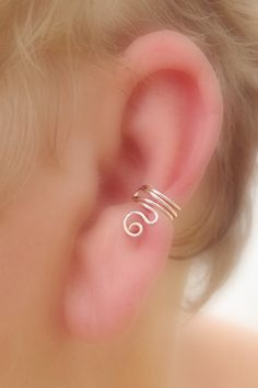 Sterling Silver Swirl Ear Cuff/ Cartilage Cuff/ by TheLazyLeopard, $12.00