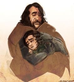The Hound and Arya, I love their dynamic and thought it was awesome to see the paternal side of such a fierce character