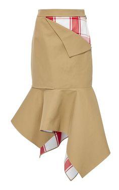 Medium monse brown peek a boo plaid trumpet skirt