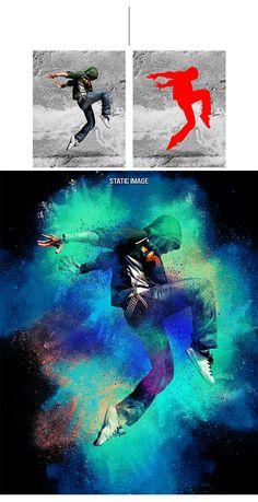 Animated Color Dust Photoshop #Actions #PSAction #Photoshop #PS #Graphicriver #PhotoEffects #Digitalart #Design #art #paint #painting #watercolor #ink #dance #activity #color #street
