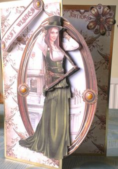 Featuring topper from Debbi Moore Designs Steampunk CD Debbie Moore, Steampunk Cards, Sci Fi Fantasy, Card Designs, Steam Punk, Cardmaking, Card Ideas, Projects To Try, Art Deco