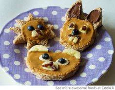 Bunny Rabbit and Bears peanut butter bread See More at http://www.cooki.li/ -