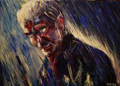 Akryl - Zatoichi Acrylic painting - Zatoichi Modern Art, Painting, Paintings, Contemporary Art, Draw, Drawings