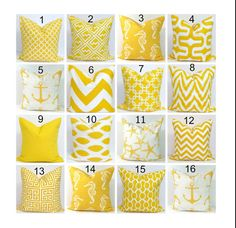 Yellow Pillows.Pillow Cover, Decorative Pillow, Yellow Throw Pillow, Pillows, Accent Pillow, Pillow Covers, All Sizes, Yellow Euro, Cushion