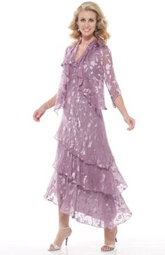 Capri by Mon Cheri Mauve Silk Burnout Tiered Evening Dress CP11132-6 at frenchnovelty.com