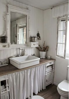 Shabby rustic bathroom.