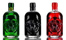 Skull shaped bottle of absinthe 3