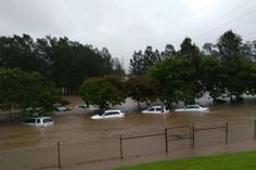 The Big Wet March 2017 - ex TC Debbie Robina Hospital flooding