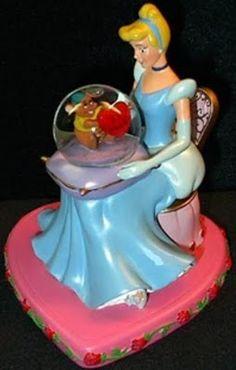 Disney Cinderella Valentines Day Snowglobe