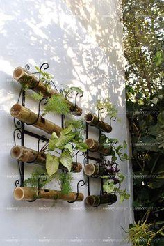 Wrought Iron Bamboo Pot Holder Image