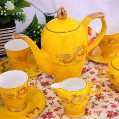 Bone of Jingdezhen porcelain coffee set European-style British ceramic Tea Cup set Xianglong Ceramicslife.com