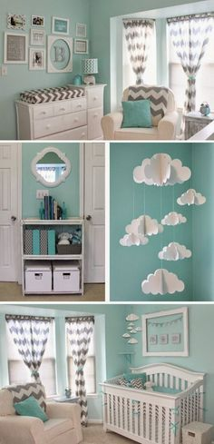 Mint & Chevron Baby Nursery