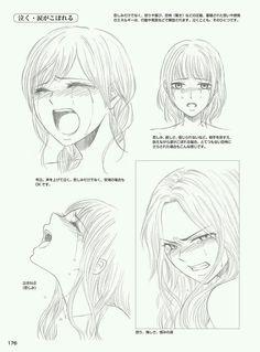 Manga Drawing Ideas Crying girl anime reference how to draw sad angry Cry Drawing, Drawing Base, Manga Drawing, Drawing Sketches, Manga Art, Anime Art, Drawings, Drawing Ideas, Drawing Tips