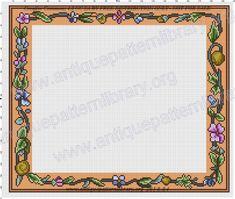 ru / Chair back border - La Mode Illustree - gabbach Cross Stitch Borders, Chair Backs, Quilts, Blanket, Gallery, Comforters, Quilt Sets, Kilts, Rug