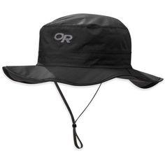 Outdoor Research Men's Helios Rain Hat, Size: Medium, Black