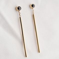 ISLE Black Star Earrings from the Sora collection. Solid gold with conflict-free black diamonds www.isle-jewellery.com
