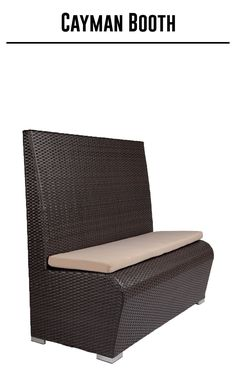 Closeout Cayman Collection Synthetic Wicker Booth Bar Restaurant Furniture Tables Chairs And Stools
