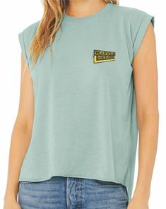 - Waffle House Good Food Fast distressed left chest design screen printed on the popular Bella + Canvas Ladies Muscle T-Shirt with rolled sleeves. Available in trendy 3 colors: Dusty Blue, Heather Deep Teal or White. Waffle House, Muscle T Shirts, Deep Teal, Bella Canvas, Dusty Blue, Waffles, High Low, Good Food, Popular