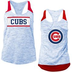 Chicago Cubs Women's Space Dye Racerback Tank Top  #ChicagoCubs #Cubs #FlyTheW #MLB #ThatsCub