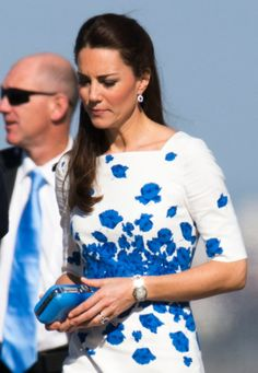 Duchess Kate: First Photos: Kate in Poppy Print L.K. Bennett for Visit to the Sunshine State