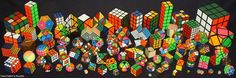 Different types of twisty puzzles http://www.twistypuzzles.com/shop/ has a lot of cool things