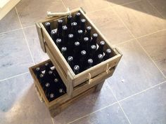 Home made beer in home made cases :)
