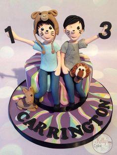 Dan & Phil Phandom cake - Cake by Kelly Hallett