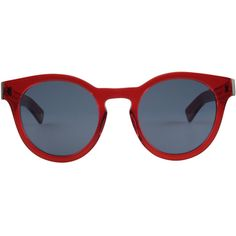 Ahlem Barbes, Redlight (580 NZD) ❤ liked on Polyvore featuring accessories, eyewear, sunglasses, glasses, round sunglasses, round lens sunglasses, heart shaped sunglasses, round lens glasses and acetate glasses