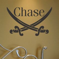 Personalized Pirate Sword Wall Decal Pirates Decor - aBaby.Com