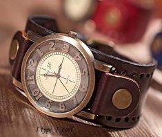 Retro fashion ladies fashion leisure leather watch by itypeicool, $15.99