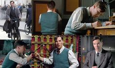"""Film Fashions - The Imitation Game - Costumes of the film The Imitation Game - """"Alan, the person, wore ill-fitting clothing, everything was wrinkly or a bit tight at the top and saggy at the bottom. Benedict took that and ran with it. It's such a heavy, emotional role, we just tried stuff on and went, 'Is this right? Are we going to get into textures? What shades of gray and blue and brown?"""" (Quote Source)"""