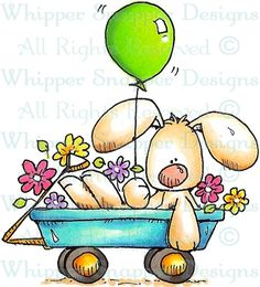 Celebration Bunny - Rabbits - Animals - Rubber Stamps - Shop
