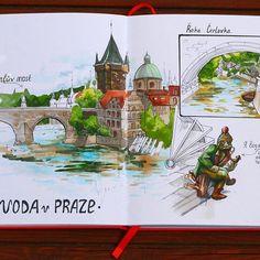 #sketch #prague_sketchingtour #sketchbook #art #artbook #prague #travelbook #l #leuchtturm1917